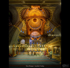 New Mosque - Istanbul, Turkey (HDR Vertorama) - [Explored] (farbspiel) Tags: panorama photoshop religious temple nikon worship religion belief istanbul holy tur trkei handheld stitching photomerge spiritual stitched dri hdr hdri topaz adjust superwideangle infocus 10mm postprocessing ultrawideangle photomatix denoise vertorama d7000 nikkorafsdx1024mmf3545ged