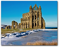 Whitby Abbey (Dave_O1 (hates the new look)) Tags: blue sea sun snow cold english heritage ice abbey canon ruins historic british whitbyabbey winterbeauty autofocus topshots north yorkshire photosandcalendar eos7d worldwidelandscapes efs1585 panoramafotografico drucula theoriginalgoldseal mygearandme flickrportal architectureandcities flickrstruereflection1 flickrstruereflection2 vigilantphotographersunite vpu2 vpu3 vpu4
