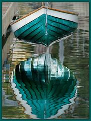 Dinghy (Pragmatic1111) Tags: ocean california reflection green boat dock nikon waves rowboat dinghy d700 mygearandme