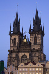 Church of Our Lady before Tn (Steve and Sara) Tags: prague praha czechrepublic oldtown oldtownsquare starmsto churchofourladybeforetn
