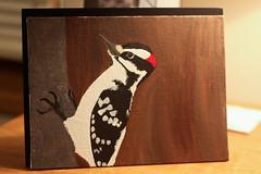 Inspired (Kay Walker) Tags: bird art painting woodpecker inspired pictureofapicture imsoexcited 1moreday photoadventureonsunday