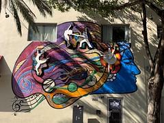 Mural On Calle Ocho Miami (Phillip Pessar) Tags: digital canon calle store mural little florida 21 miami havana powershot thrift ocho find megapixel a20
