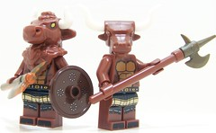 Minotaur Brothers (Silenced_pp7) Tags: 6 brick greek ancient arms lego mini figure warrior series forge six figures mythology figs minotaur minifigure minotaurs minifigures brickarms brickforge minifgs brickwarriors