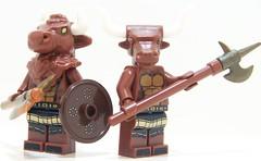 Minotaur Brothers (Silenced_pp7) Tags: 6 brick greek ancient arms lego mini figure warrior series forge six figures mythology figs minotaur minifigure minotaurs minifigures brickarms brickforge minifgs brickwarriors