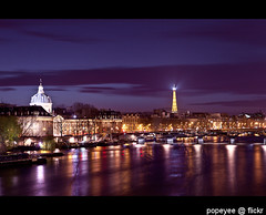 Pont Neuf, Paris (Popeyee) Tags: pictures new travel bridge blue light sunset paris france reflection beautiful night canon river dark french landscape photography lights evening photo europe long exposure photographer photographie nightscape image photos dusk picture images photograph hour pont bild neuf pontneuf gifrancejan12