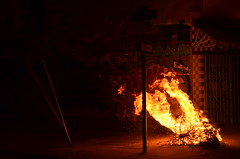 Burning Tree (Michael Kappel) Tags: sanfrancisco california ca fire graffiti san francisco flames arson firing pyromania treeonfire sanfranciscograffiti burningtree torching incendiarism settingfire burningchristmastree christmastreeonfire