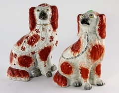 7. Pair of Antique Staffordshire Spaniels
