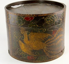 32. Chinese Lacquered Box, Phoenix Bird Motif