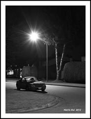 Long Exposure in Fuji X10 - Calderwood At Night X042e (Harris Hui (in search of light)) Tags: street longexposure light bw test canada monochrome car vancouver corner dark mono blackwhite frost fuji bc nightshot richmond testing neighborhood fujifilm nightscene digitalbw pointshoot flares testshot x10 digitalcompact streetlamppost frostywindow ontripod lownoise harrishui monochromewithyellowfilter vancouverdslrshooter monochromemode beautyinmundane fujix10 fujixseriescamera longexposureinfujix10 calderwoodatnight cleandarktones doessmallsensorproducenoisenowadays