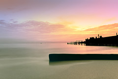 #350F0866- Near the hanger (crimsonbelt) Tags: longexposure sunset beach silhoutte hanger balikpapan melawai