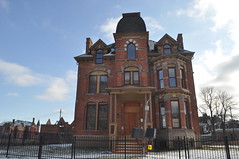 Lucien Moore House Jan 2012 (themaskedman55) Tags: park old winter house tower century anne downtown metro detroit january victorian ruin brush queen age empire second restored mansion gilded 19th edmund nineteenth alred