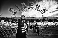 Vita da circo #1 (Funky64 (www.lucarossato.com)) Tags: bw clouds nuvole circo circus clown bn insegna pagliacci giocolieri orfei tendone acrobati lucarossato funky64 festivalcircus bryanfolloni