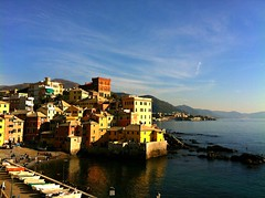 Boccadasse (SS) Tags: city pink november blue light red sea vacation sky italy orange brown white seascape black reflection green beach water beautiful weather yellow clouds composition contrast landscape photography evening sand colorful soft mare waves mood glow glare shadows view purple angle pov walk liguria details perspective scenic favorites clear genova panoramica editing framing lungomare nero tone ambience comments breakwater celeste iphone