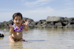 (J Palacol) Tags: family portrait sky people baby blur reflection tree love beach girl beautiful smile hat lady canon hair children nose hawaii droplets kid eyes sand women rocks child native bokeh expression branches newborn 7d hawaiian filipino 50mm18 kailuakona