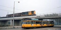 Amsterdam: crossing train and tram (Amsterdam RAIL) Tags: amsterdam train ns trolley tram loco loc streetcar tramway trein strassenbahn electrico tranvia gvb lok stadsarchief 2400 7g werkspoor plesmanlaan overtoomseveld tramtrein electrorail gvb713 ns2449 amzterdam