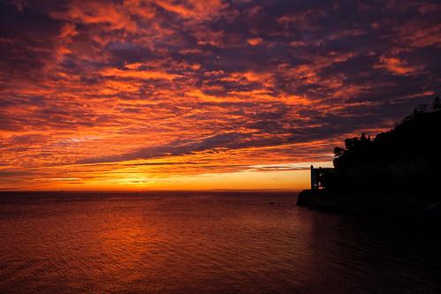 Glorious Sunset over Miramare