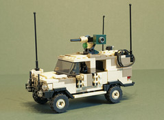 C404 Wolfhound AMPV (Al-Dabir) (Aleksander Stein) Tags: light volvo desert lego military vehicle peacekeeping purpose patrol multi iveco wolfhound sentry armoured tactical ndc rws c404 m226 ampv aldabir