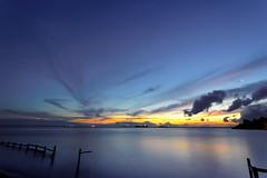 #850C9815- Reflections of the dusk on silky sea (Zoemies...) Tags: sunset beach water reflections dusk silky balikpapan melawai zoemies