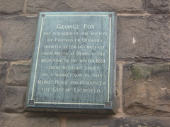Photo of George Fox bronze plaque