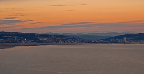 Swansea at sunset