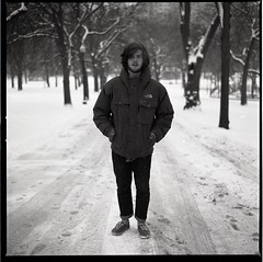 Bailey Lawless (Kyle Beiermeister) Tags: winter portrait snow boston kyle hipster commons hasselblad bailey vans northface f28 80mm 500cm lawless beiermeister