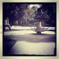 Days gone by.... (marts10) Tags: blackandwhite sculpture blur monochrome playground sepia scenic filter playpark gaussian playgroud