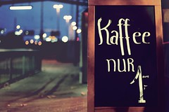 billiger Kaffee (donchris!) Tags: street coffee caf sign photography cafe strasse kaffee schild signe segno signo znak ulica