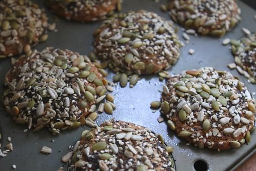 thousand seed banana date muffins