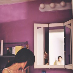 345/365 When all I can see, was myself looking back at me - reflection. (Cynthia.Wong) Tags: selfportrait reflection bathroom nikon mirrors manipulation 365 2012 expansion whatev d3000 focusisoff