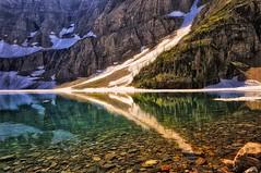 Iceberg Lake (Philip Kuntz) Tags: reflections montana lakes hikes glacierpark iceberglake manyglacier singleexposure flickrsfinestimages1 flickrsfinestimages2 flickrsfinestimages3