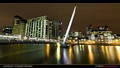 London - Canary Wharf . . . (Beauty Eye) Tags: park city uk longexposure bridge sea london eye tower thames architectu