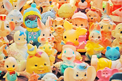 Squeak Peek!!! (boopsie.daisy) Tags: bear sun elephant cute bunny bunnies japan vintage easter toys 60s sweet turtle pastel group adorable dumbo kitsch rubber squeeze chick deer collection fawn stuff pastels bunch multiple 50s raccoon humpty dumpty lots squeak squeakers