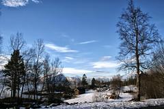 The beauty of winter (larigan.) Tags: blue trees winter snow mountains beauty sunshine norway emblem rocks view branches scenic serenity fjord boathouse naust sunnmrsalpene norwegiansea larigan phamilton emblemssanden emleim emblemsanden emlemsvgen ginordicjan12