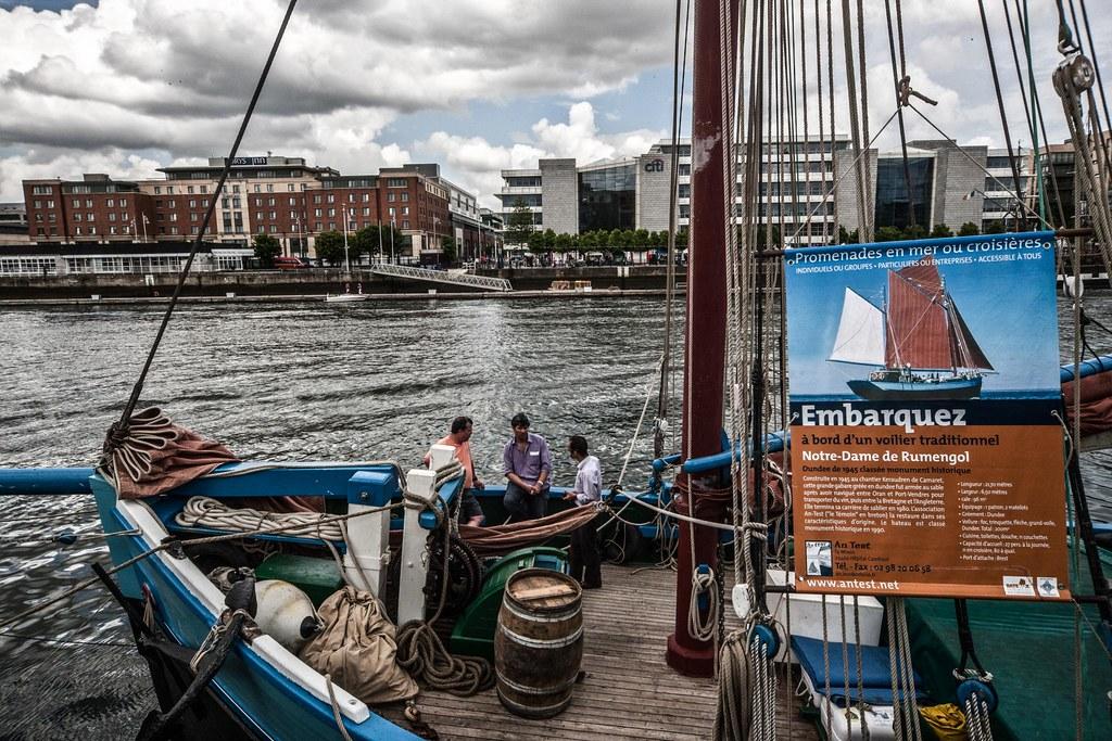 Notre Dame de Rumengol Visits Dublin Docklands