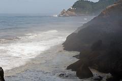 THE SEAL LION CAVES,  OREGON  (40) (DESPITE STRAIGHT LINES) Tags: trees sea usa seascape tree beach grass oregon florence nikon rocks day waves pacific clear caves pacificocean manfrotto sealrock seallions cookschasm d700 nikon2470mm nikond700 manfrotto055xprob capeperpetuaspecialinterestarea searosebeach seallioncaves oregoncoastalhighway101 ilobsterit
