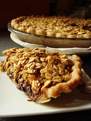 Chocolate Oatmeal Pie (ComeUndone) Tags: pie dessert baking chocolate ganache egg cream oatmeal butter vanilla brownsugar oats lyles nutmeg molasses goldensyrup seriouseats