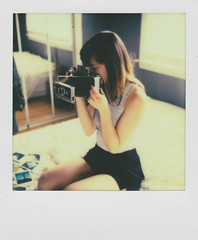exploring (Chelsie A. Olivieri) Tags: girl polaroid sx70 instant landcamera instantphotography polaroidcamera instantfilm polaroid250 polaroidphotography colorshade px70 impossibleproject