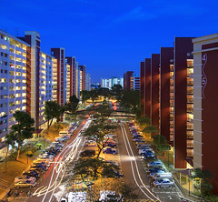 TWB_1277 (xxtreme942) Tags: building singapore bluehour hdb lighttrail singaporehdb