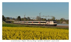 "Re 460 041-7 ""Croix-Rouge"" - Nyon (CC72080) Tags: re460 locomotive cff sbb interrégio train nyon ffs zug treno lokomotive"