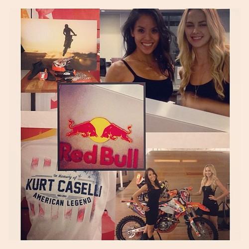 Fun gig last night at Redbull! #events #eventlife #bartenders #redbull #models #energydrinks #motorcycle #santamonica #200ProofLA #200Proof