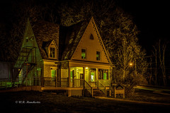 Haunted Schoolhouse (Roy Manchester) Tags: longexposure nightphotography trees light newyork canon buildings landscape scary unitedstates gps geotag catskill 1740l canonllenses llenses canon6d