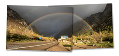 Double Rainbow Over Little Cottonwood Canyon (Photo-John) Tags: panorama storm mountains weather collage canon outdoors eos rainbow wasatch stormy panoramic adventure saltlakecity 7d editorial slc doublerainbow stockphoto lcc littlecottonwoodcanyon stockphotography wasatchmountains editorialphotography 7dmkii 7dmarkii