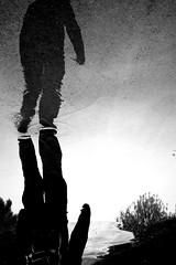 Ddoublement... (FR4GIL3) Tags: men water eau reflet homme flaque ddoublement