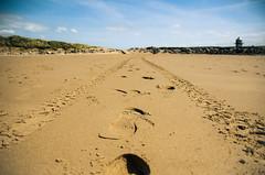 Signs of Summer (Adam Hopkins) Tags: blue summer sky cloud lighthouse beach lines photography foot photo nikon prints leading lightroom leadinglines nikond7000