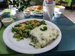 """San José: une soupe de carootes, un jus de sauge, une lasagne aux épinards et une au poulet <a style=""""margin-left:10px; font-size:0.8em;"""" href=""""http://www.flickr.com/photos/127723101@N04/26824932926/"""" target=""""_blank"""">@flickr</a>"""