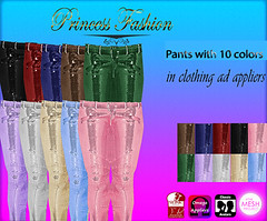 PANTS 10 colors, (princessfashion100) Tags: life mesh body spirit interior omega free sl second hunter marketplace breathe uber belleza banned tmp lolas reign freebie ryca dollarbie kitja pinkfuel wasabipills lelutka appliers labelmotion tagsslink