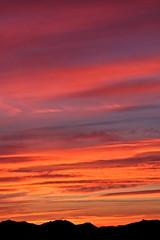 Red sunrise over the Cascades (iaakisa) Tags: usa sunrise cascaderange frommybalcony