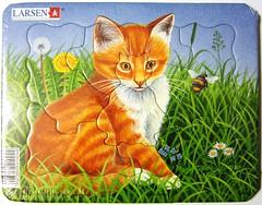 Orange Kitten / Rotes Ktzchen (Leonisha) Tags: puzzle jigsawpuzzle frametray rahmenpuzzle
