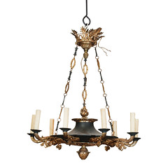 Mid 20th century French Empire Chandelier (thehighboy) Tags: lighting french miami chandeliers antiques collectibles highboy candelabras empirechandelier