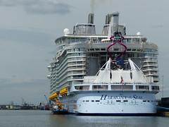 Harmony of the Seas at Southampton (3) - 19 May 2016 (John Oram) Tags: cruiseship southampton royalcaribbean seagreen rccl veolia harmonyoftheseas 2002p1100612